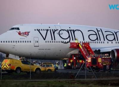News video: Vegas-Bound Virgin Atlantic Plane Makes Emergency Landing at Gatwick
